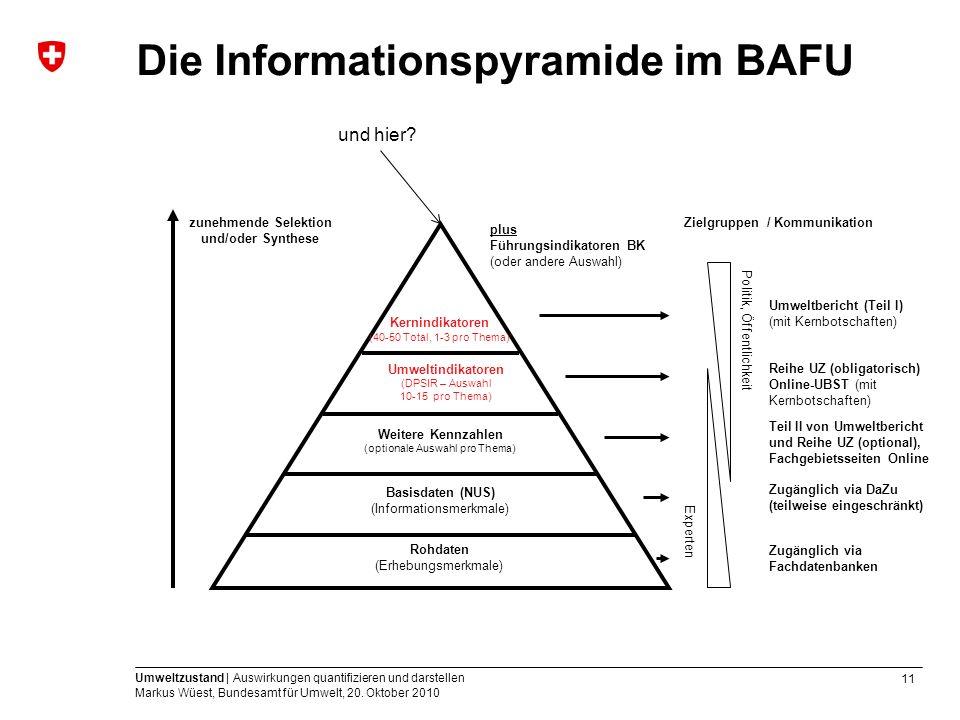 Die Informationspyramide im BAFU