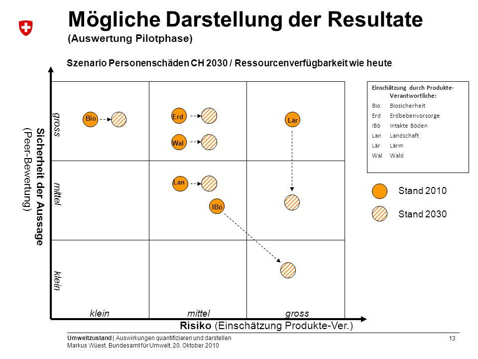Mögliche Darstellung der Resultate (Auswertung Pilotphase)
