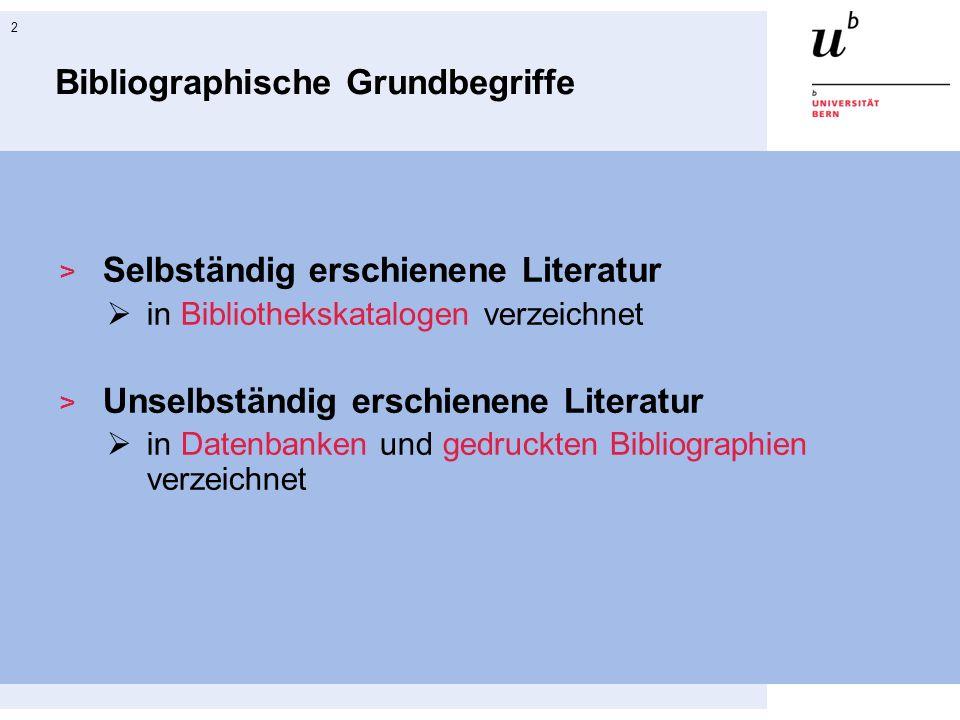 Bibliographische Grundbegriffe