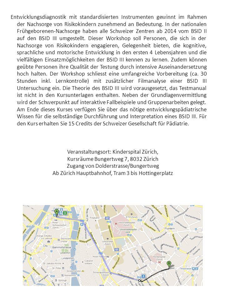 Veranstaltungsort: Kinderspital Zürich,