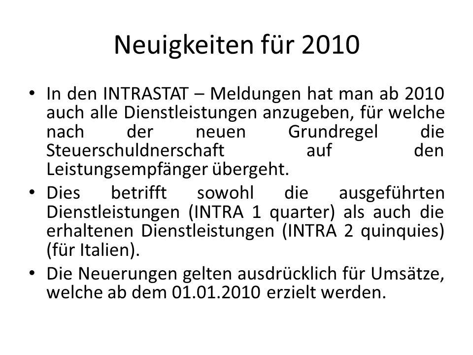 Neuigkeiten für 2010