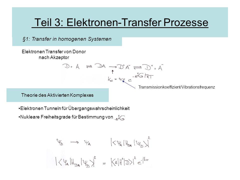 Teil 3: Elektronen-Transfer Prozesse