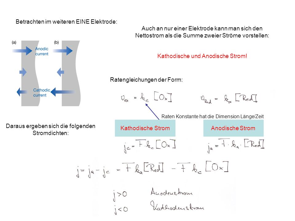 Betrachten im weiteren EINE Elektrode: