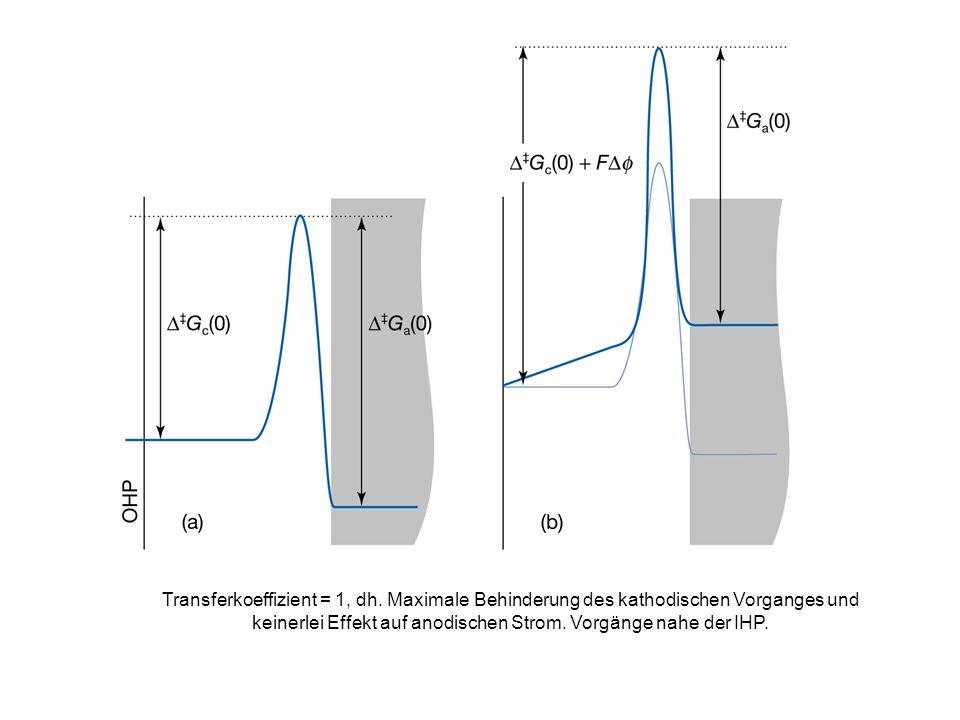 Transferkoeffizient = 1, dh