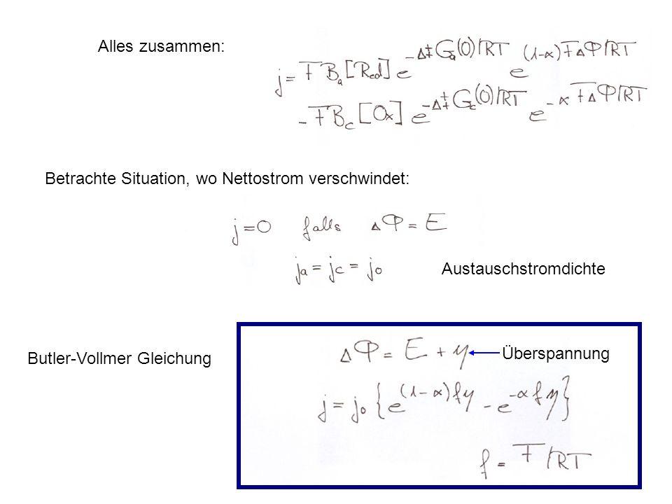 Betrachte Situation, wo Nettostrom verschwindet: