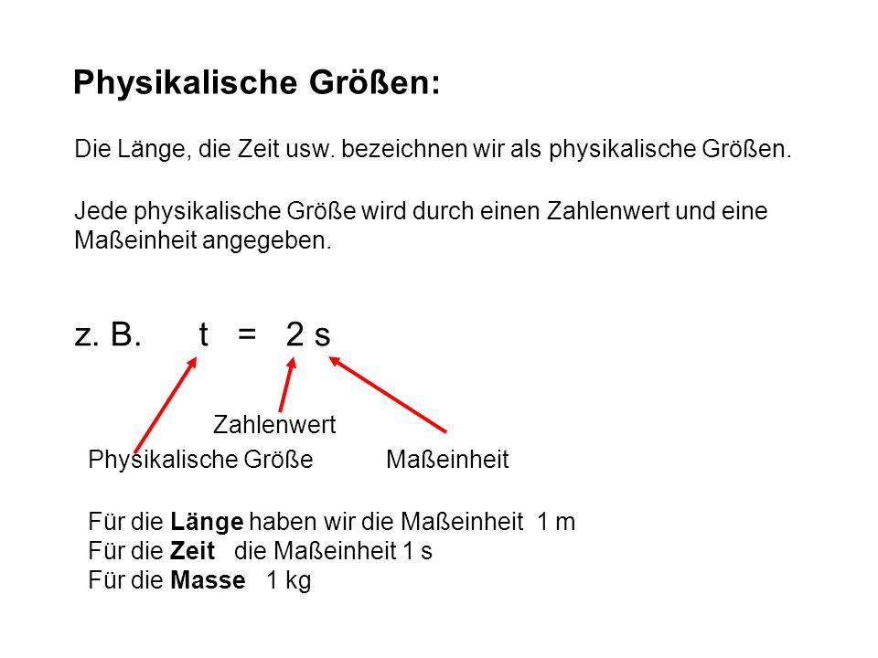 Physikalische Größen: