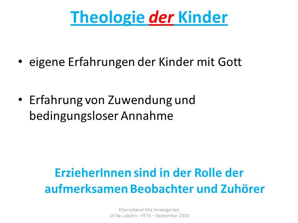 Theologie der Kinder eigene Erfahrungen der Kinder mit Gott