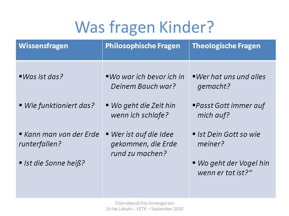 Was fragen Kinder Wissensfragen Philosophische Fragen