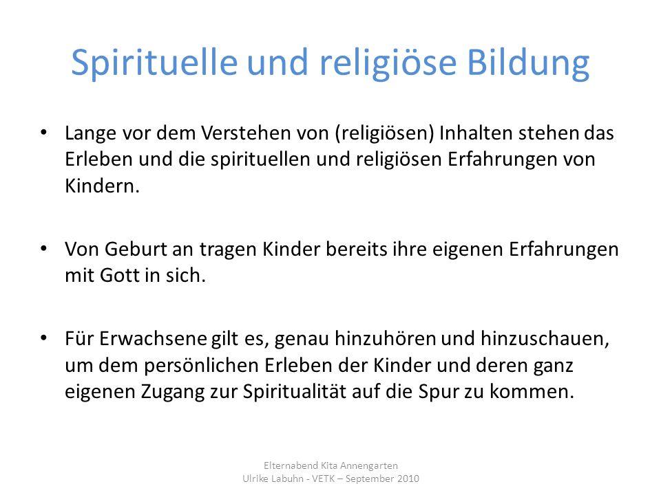 Spirituelle und religiöse Bildung