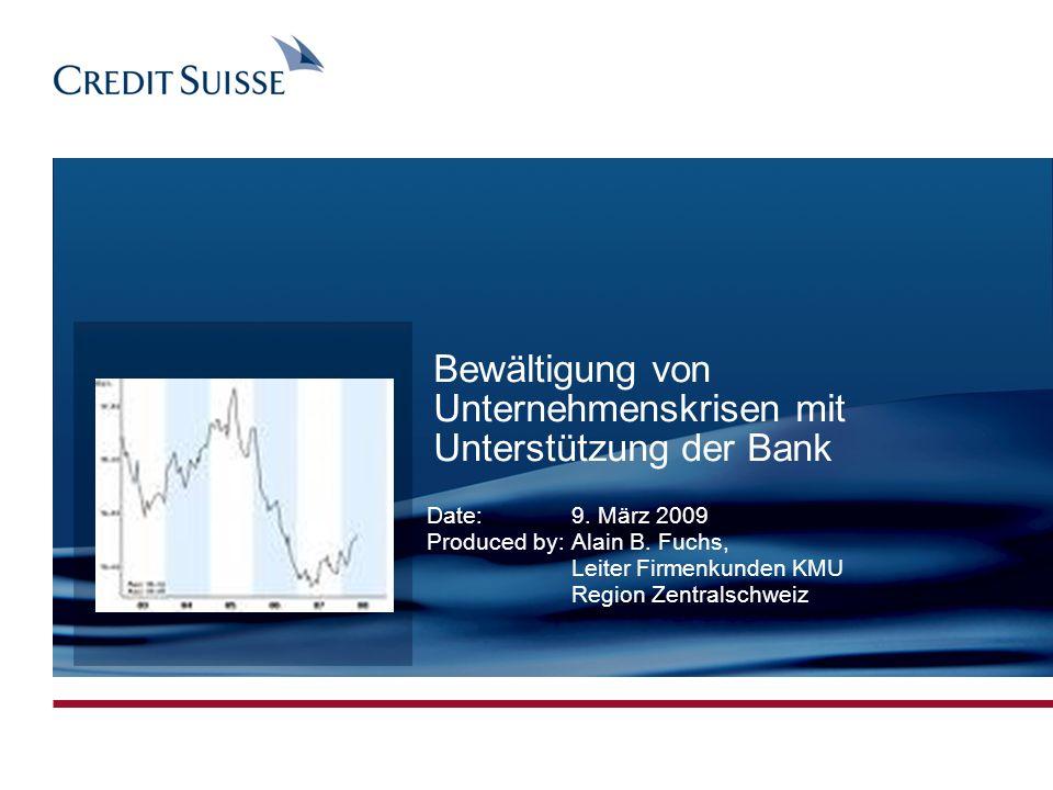 Bewältigung von Unternehmenskrisen mit Unterstützung der Bank