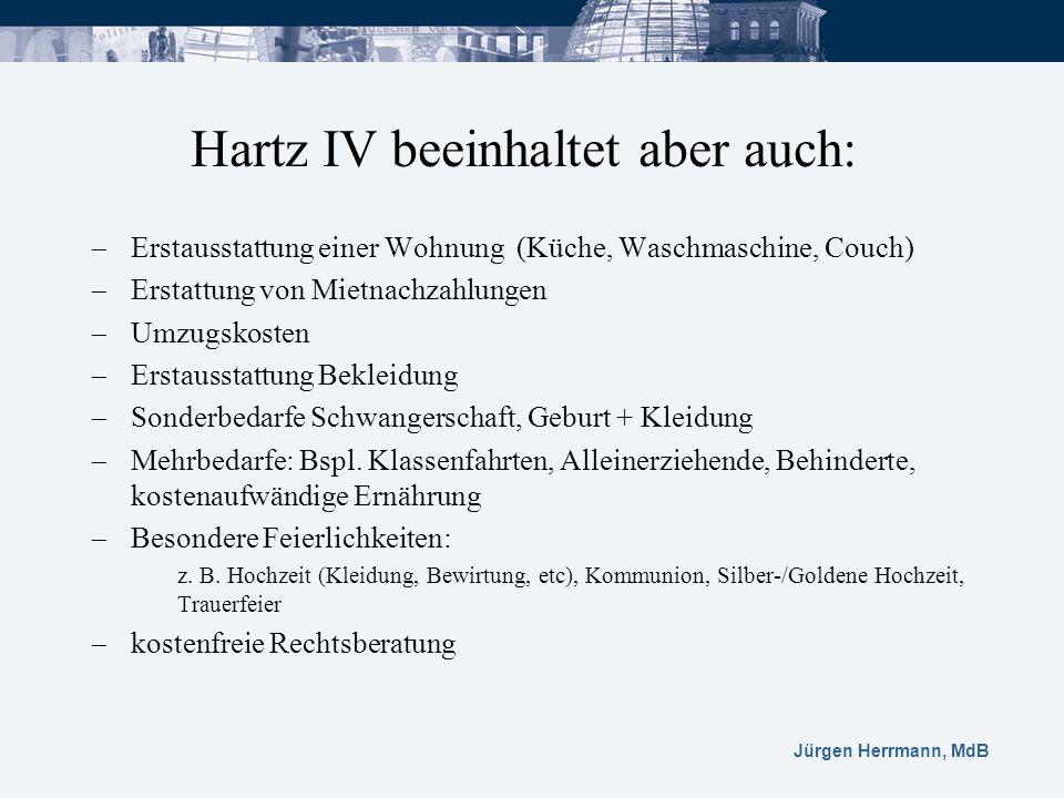 Hartz IV beeinhaltet aber auch: