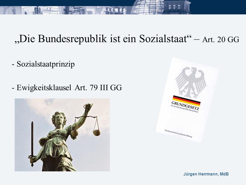 """""""Die Bundesrepublik ist ein Sozialstaat – Art. 20 GG"""