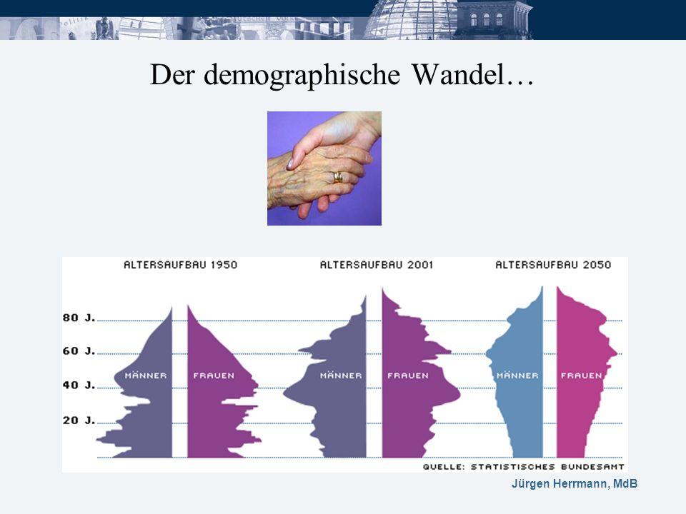 Der demographische Wandel…