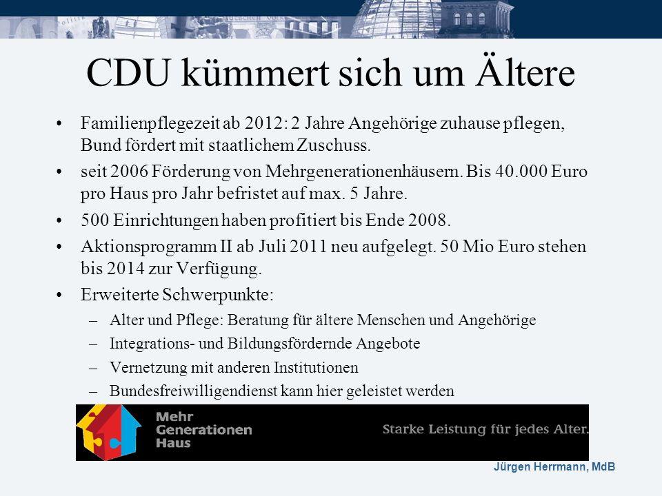 CDU kümmert sich um Ältere