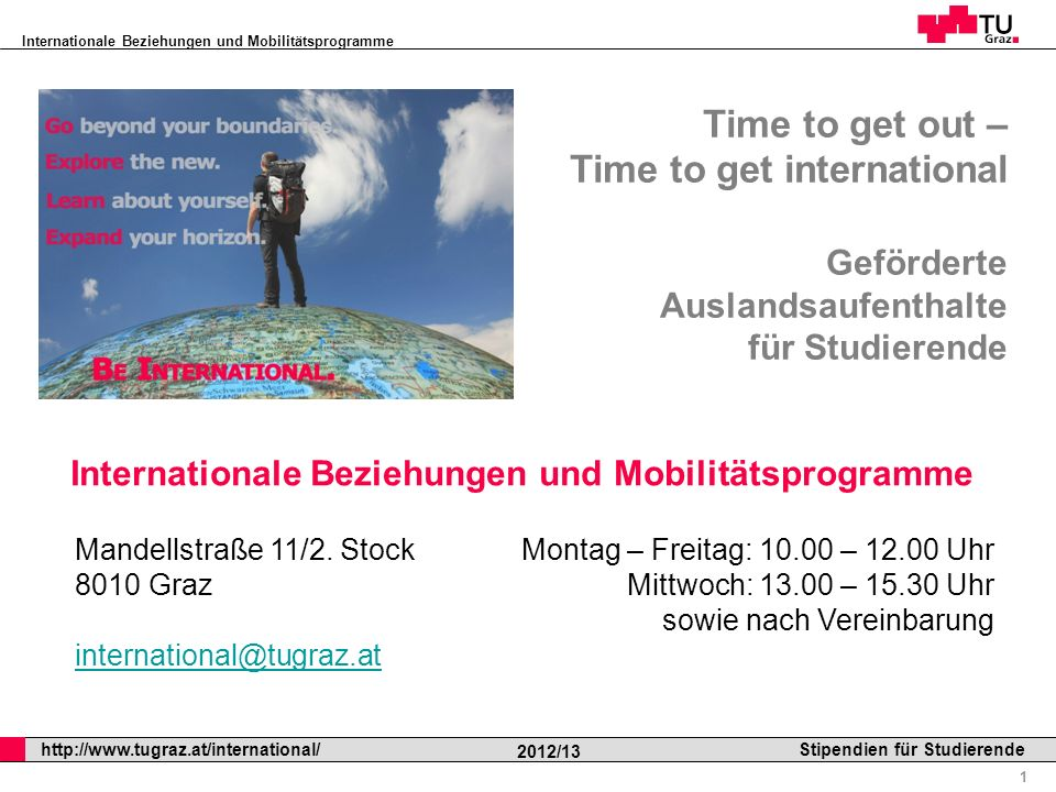 Internationale Beziehungen und Mobilitätsprogramme