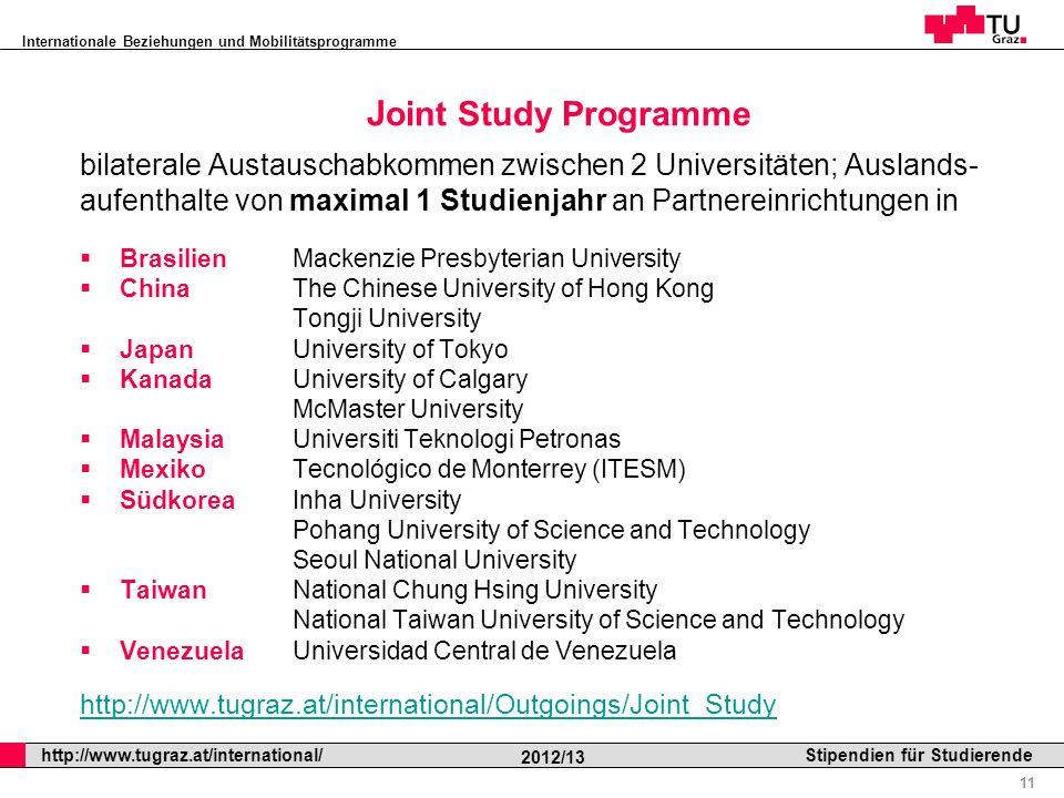 Joint Study Programme