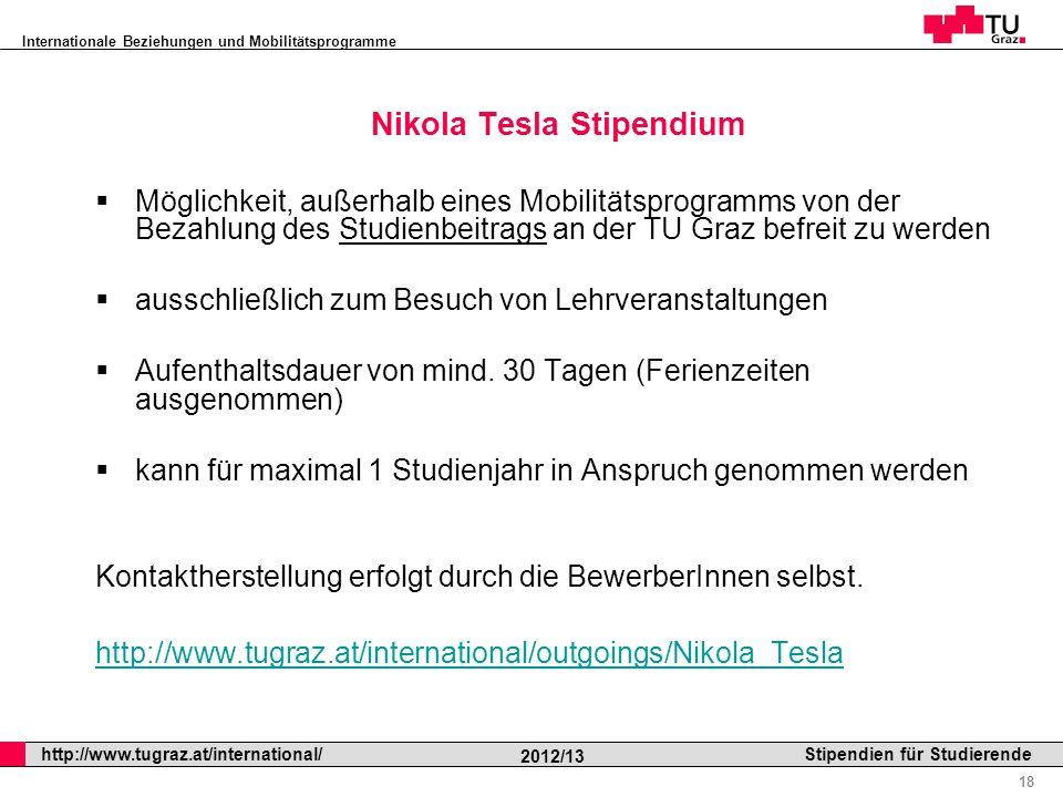 Nikola Tesla Stipendium