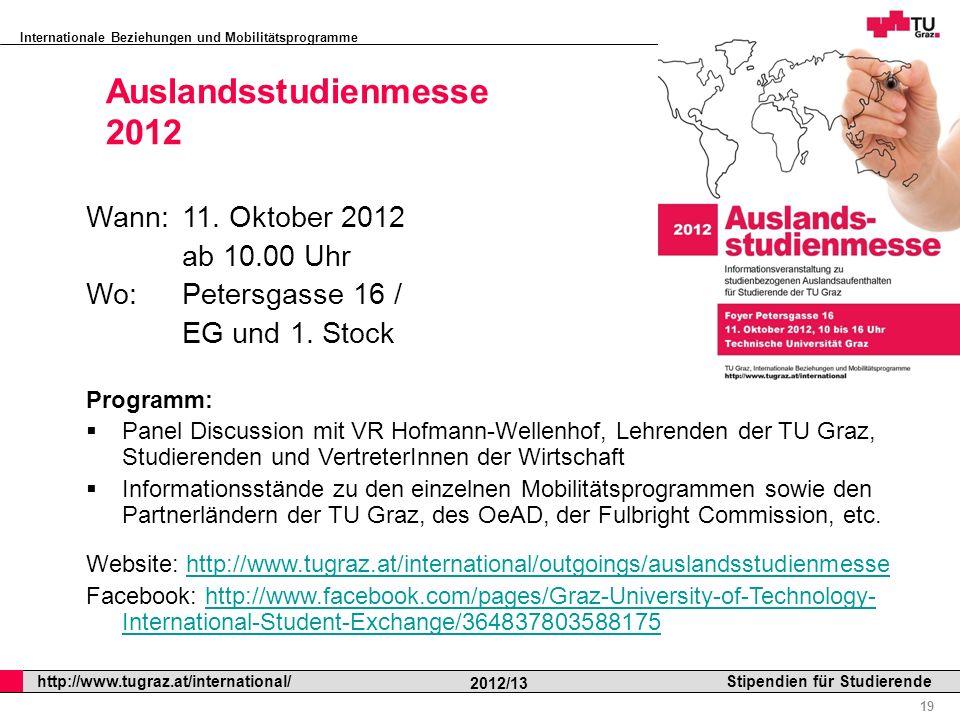 Auslandsstudienmesse 2012