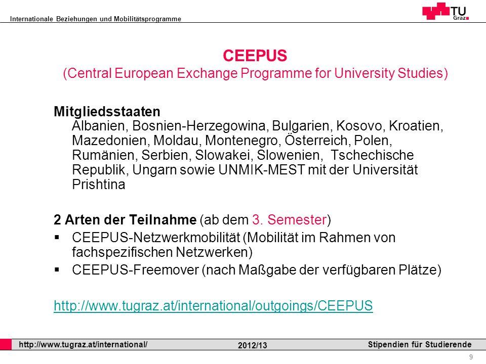 CEEPUS (Central European Exchange Programme for University Studies)
