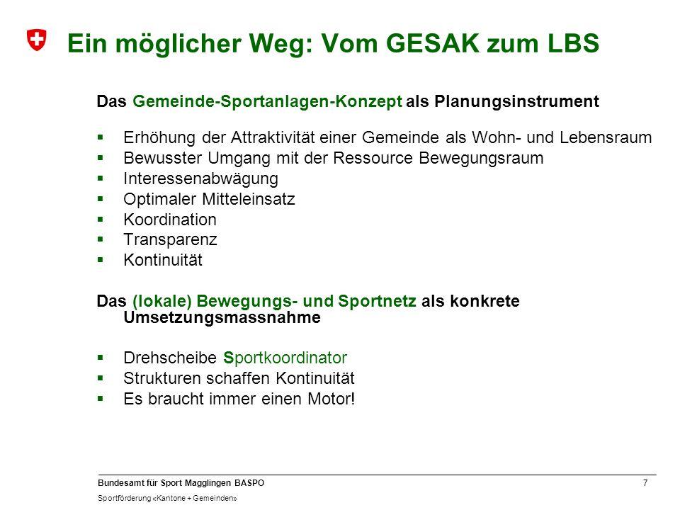Ein möglicher Weg: Vom GESAK zum LBS