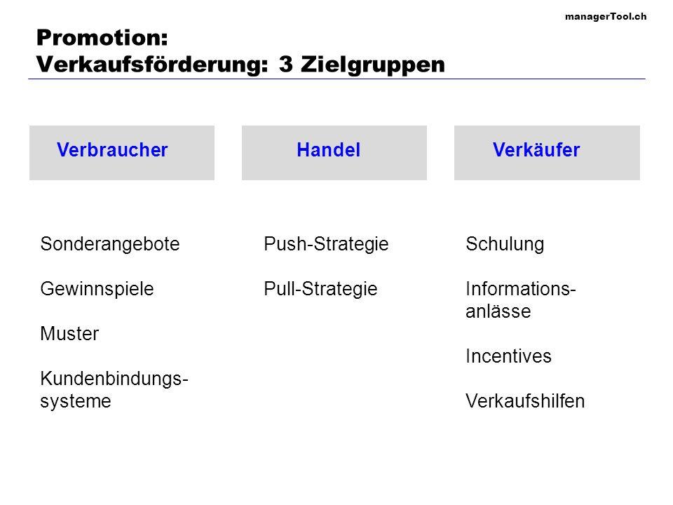 Promotion: Verkaufsförderung: 3 Zielgruppen