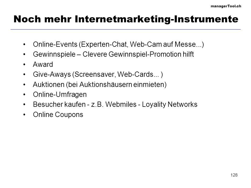 Noch mehr Internetmarketing-Instrumente