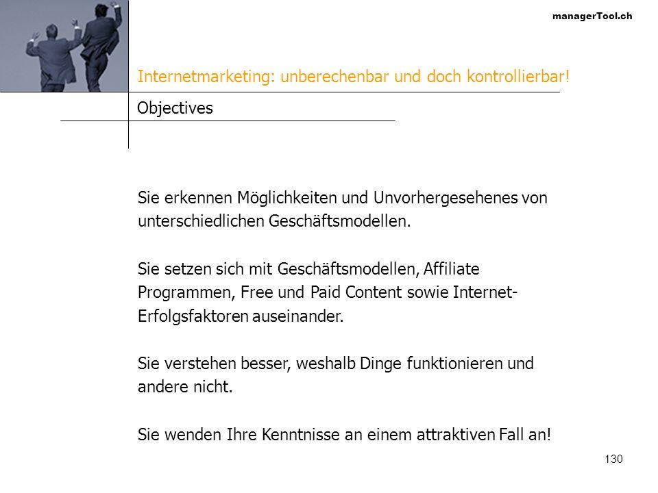 Internetmarketing: unberechenbar und doch kontrollierbar!