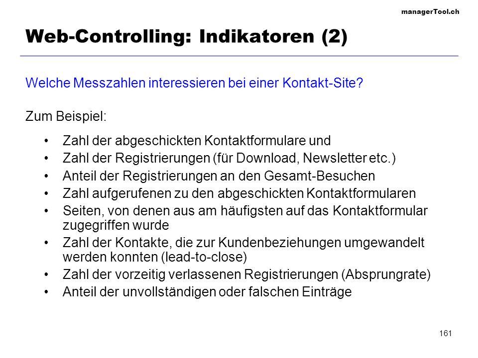 Web-Controlling: Indikatoren (2)