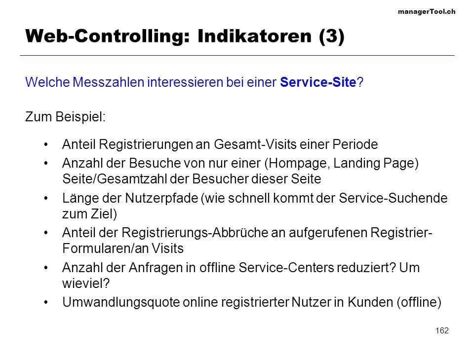 Web-Controlling: Indikatoren (3)