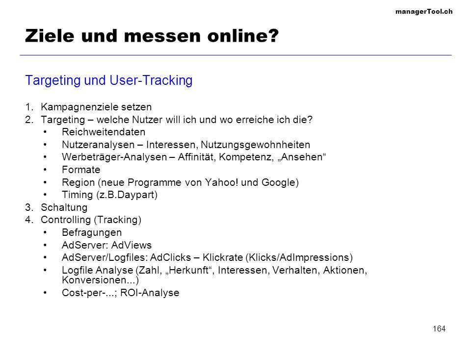Ziele und messen online