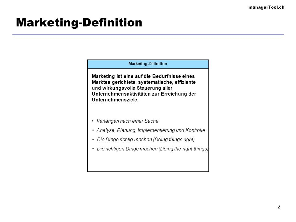 Marketing-Definition