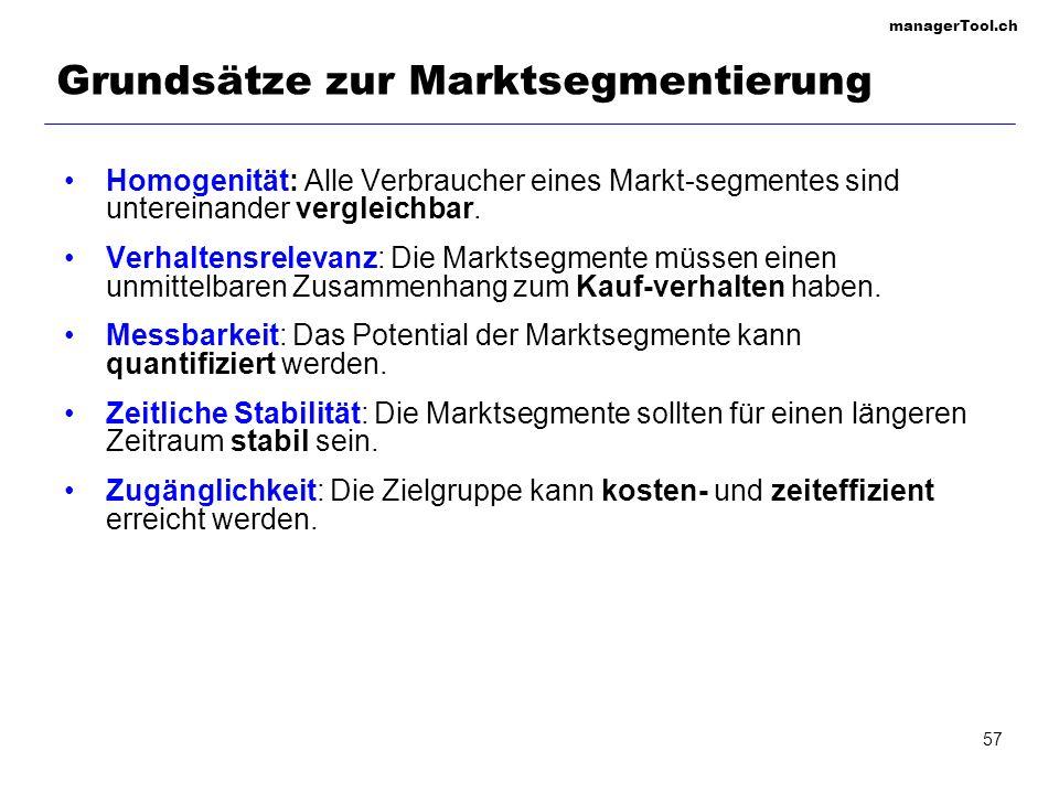 Grundsätze zur Marktsegmentierung
