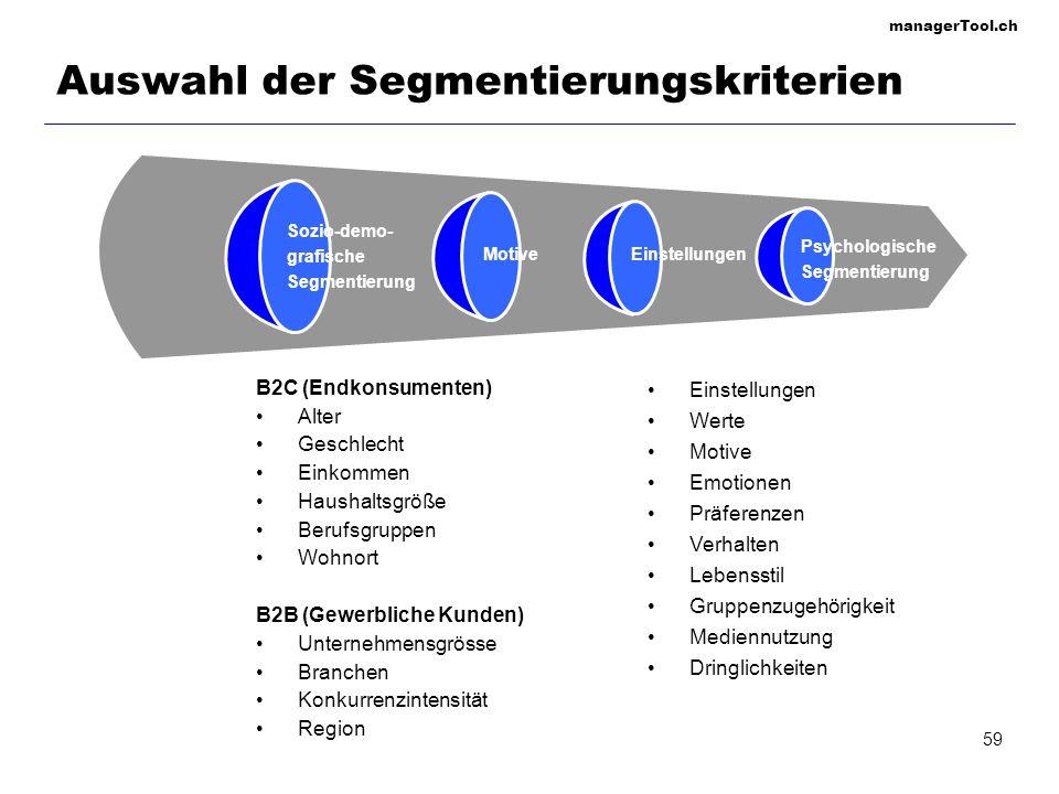 Auswahl der Segmentierungskriterien