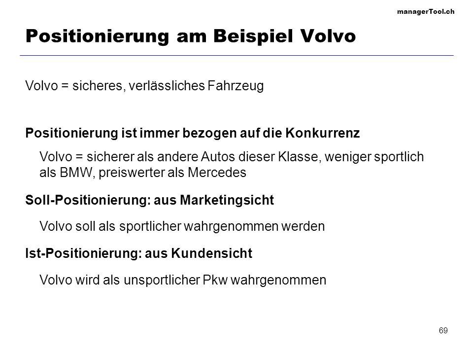 Positionierung am Beispiel Volvo