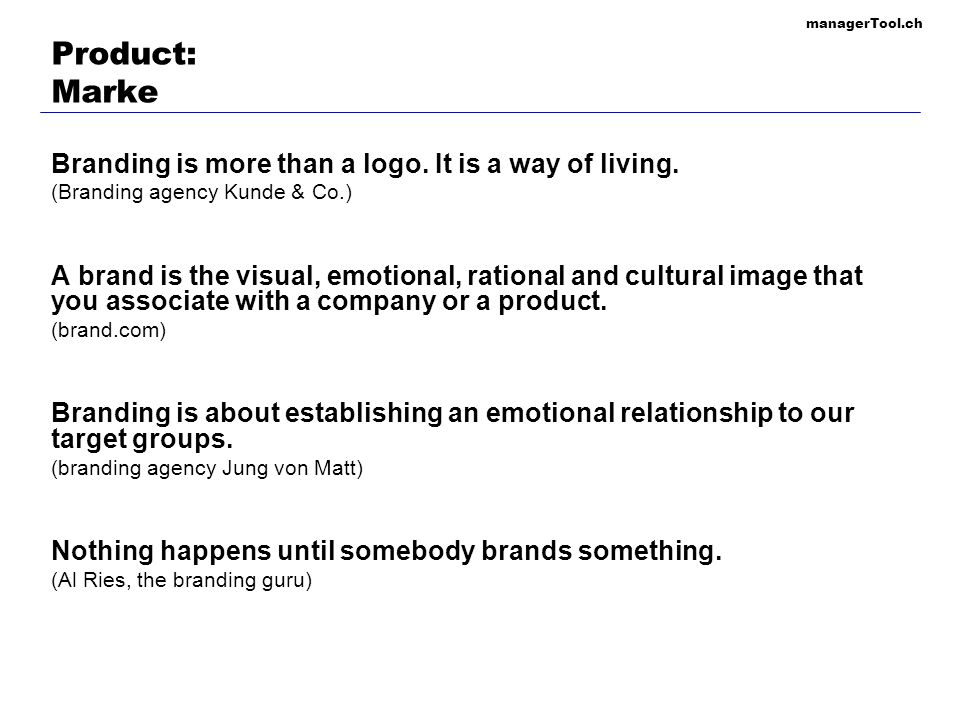 Product: Marke Branding is more than a logo. It is a way of living.