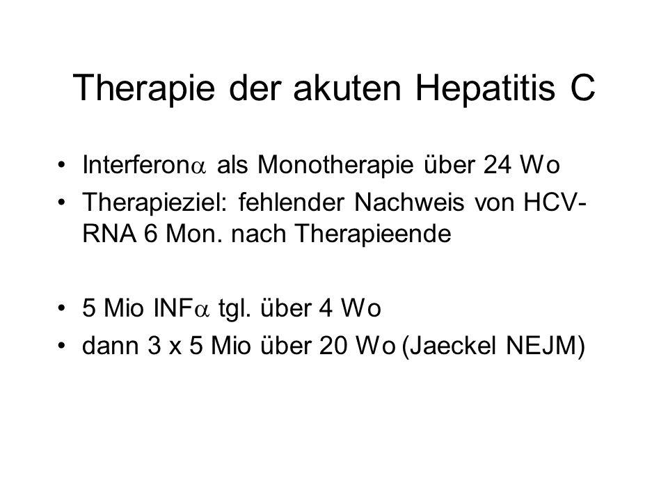 Therapie der akuten Hepatitis C