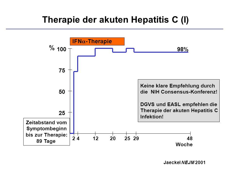 Therapie der akuten Hepatitis C (I)