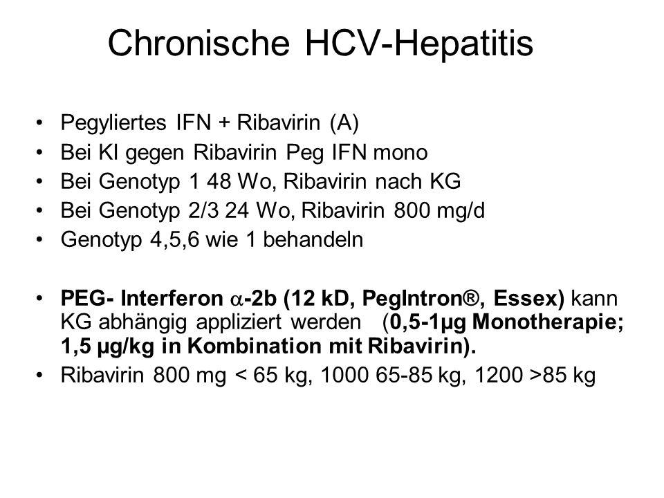 Chronische HCV-Hepatitis