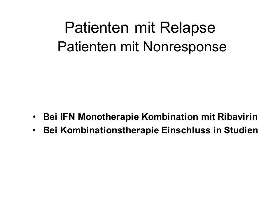 Patienten mit Relapse Patienten mit Nonresponse