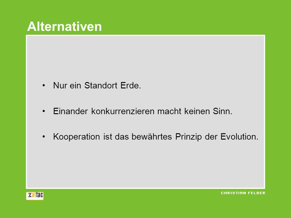 Alternativen Nur ein Standort Erde.
