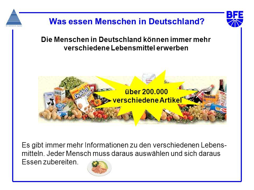 Was essen Menschen in Deutschland
