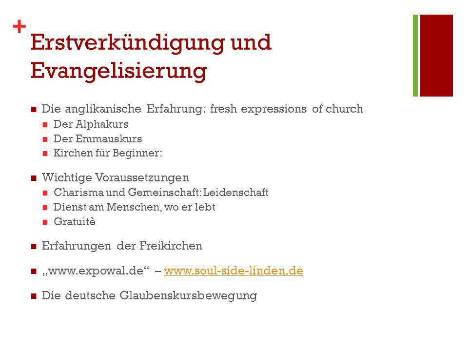 Erstverkündigung und Evangelisierung