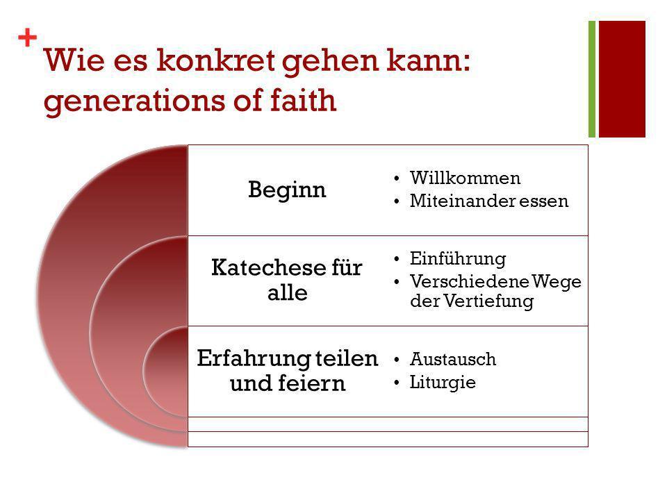 Wie es konkret gehen kann: generations of faith