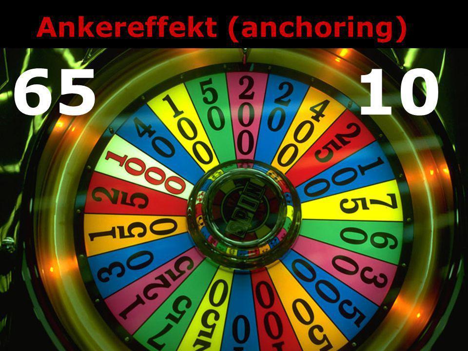 Ankereffekt (anchoring)
