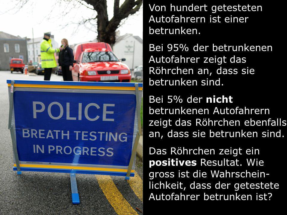 Von hundert getesteten Autofahrern ist einer betrunken.