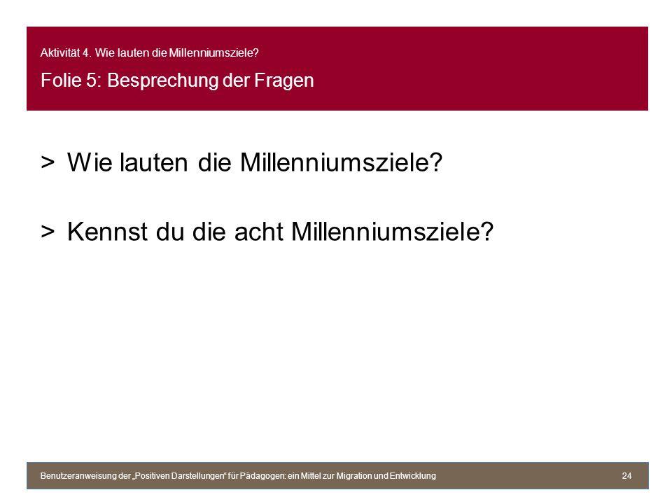 Wie lauten die Millenniumsziele Kennst du die acht Millenniumsziele