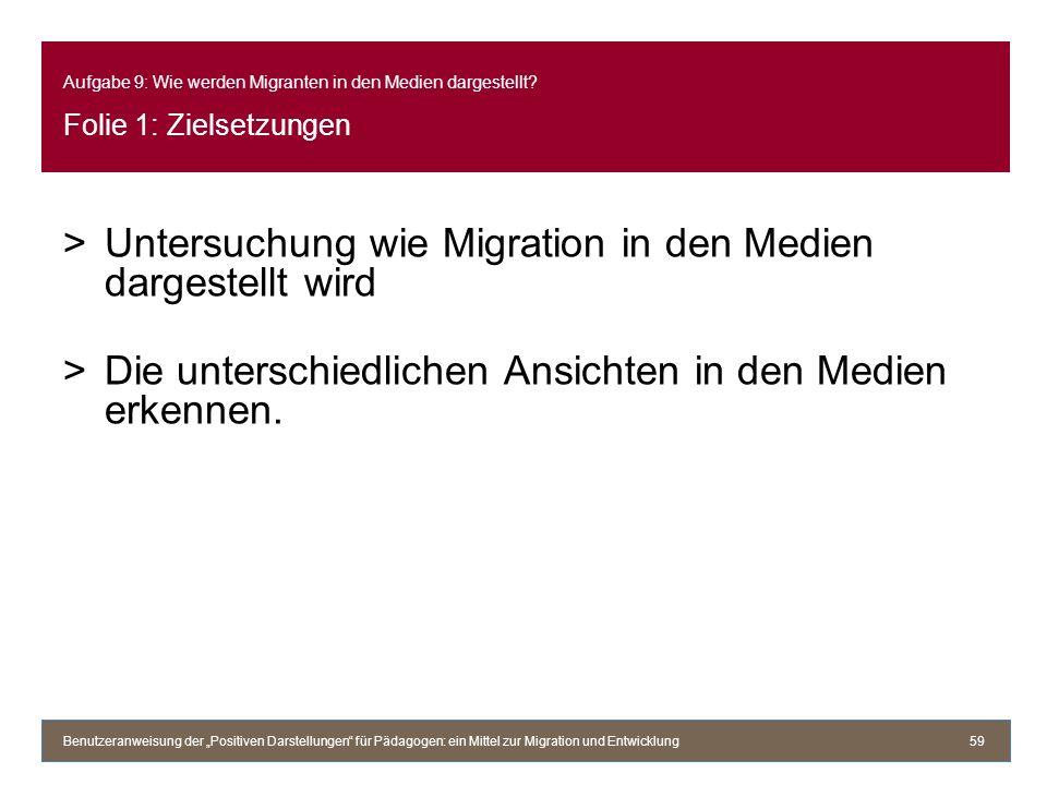Untersuchung wie Migration in den Medien dargestellt wird
