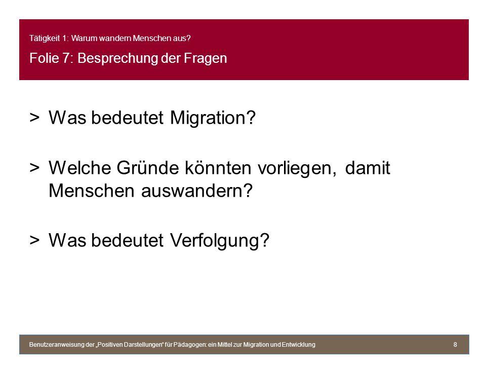 Was bedeutet Migration