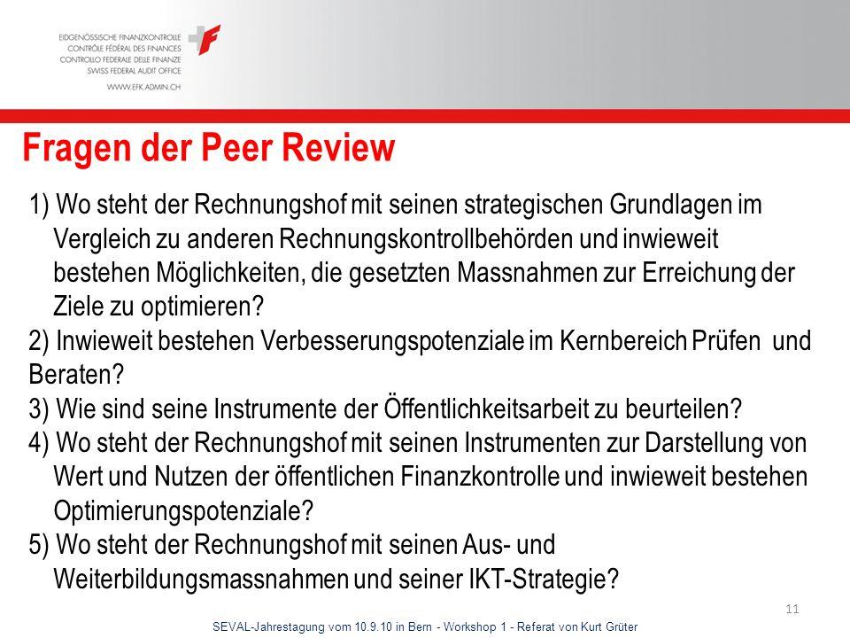 Fragen der Peer Review