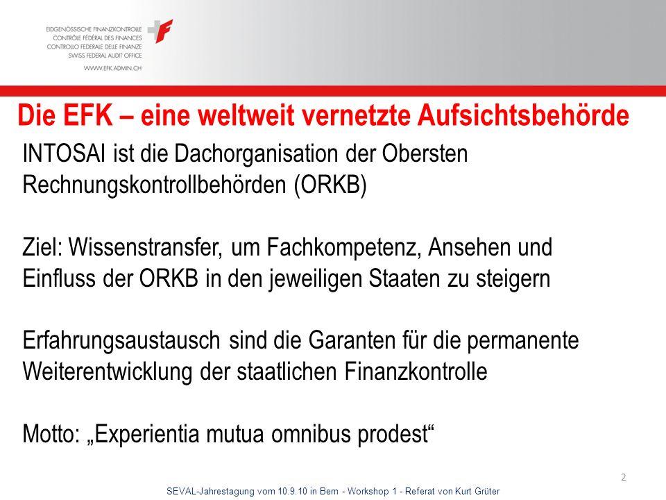 Die EFK – eine weltweit vernetzte Aufsichtsbehörde
